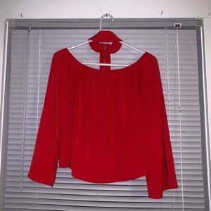 Red Choker Missguided Top
